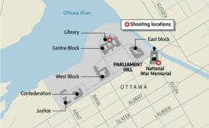 Shooting Locations- Via The Globe and Mail.