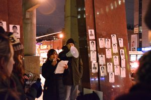 Human Rights Monument. Ottawa Vigil. Picture from Walter Escobar.